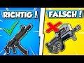 SMG vs. P90 in FORTNITE!! 😱- Grüne/Blaue SMG vs Goldene P90 in FORTNITE!!