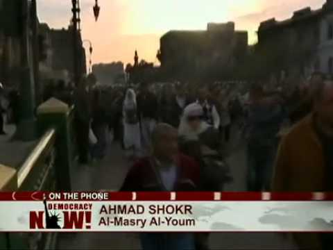 Uprising in Egypt: Dramatic Live Report By Journalist Ahmad Shokr From a Cairo Hotel Room 1 of 2