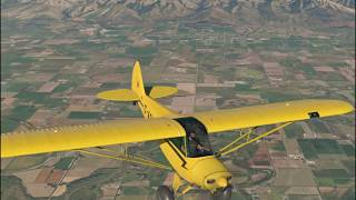 X Plane 11 Native VR - ASDG Super Cub - Salt lake city area