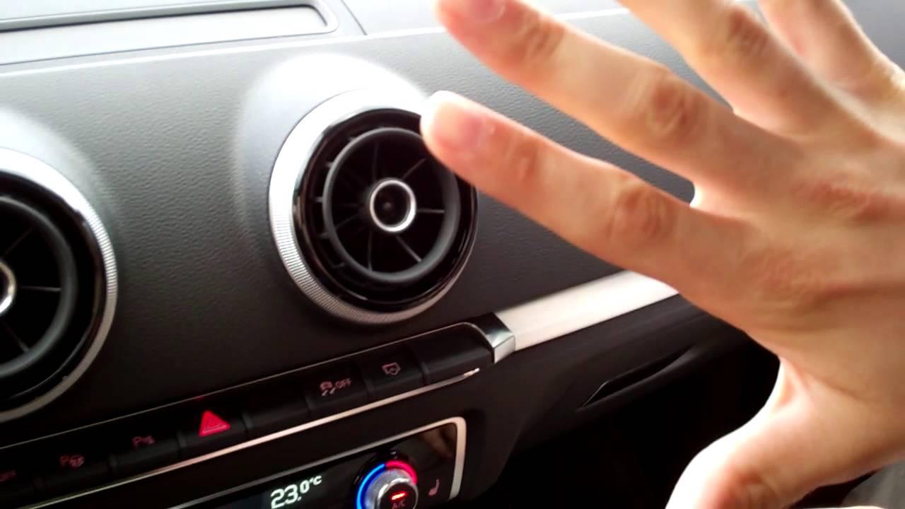 Audi A3 Interieur-Design: Display, Luftdüse und Unterwäsche bei der ...