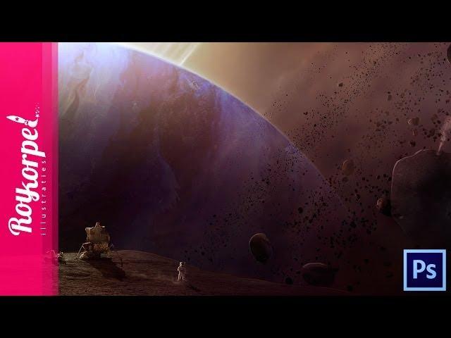 #Photoshop manipulation time lapse - Exoplanet