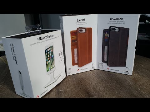 twelvesouth iPhone Wallet Case Journal / Book Book & HiRise  Deluxe Stand  Unboxing and Review