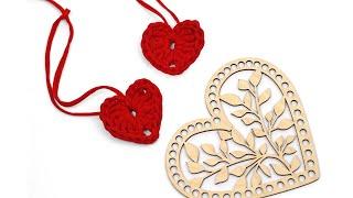 Вязание сердечка из трикотажой пряжи