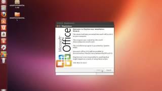 Install MS Office 2010 on Ubuntu 12.04-17.04