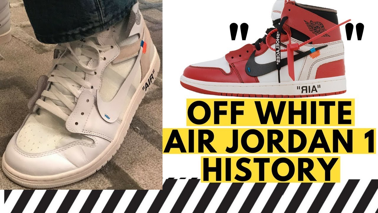 dd3a4dfca35 REAL Off White Air Jordan 1 Unboxing, and History of Protoype White Off  White Jordan 1