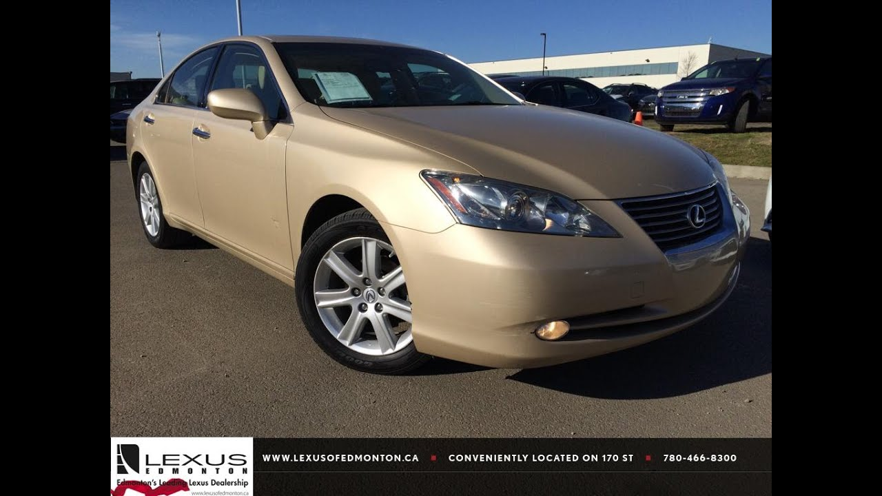Pre Owned Lexus >> Pre Owned Gold 2009 Lexus ES 350 Navigation Package Review ...