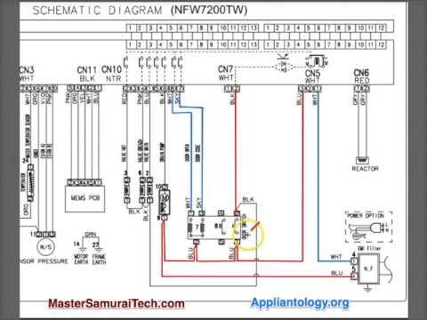 Amana Samsung Nfw7200tw Washer Schematic Analysis Youtube