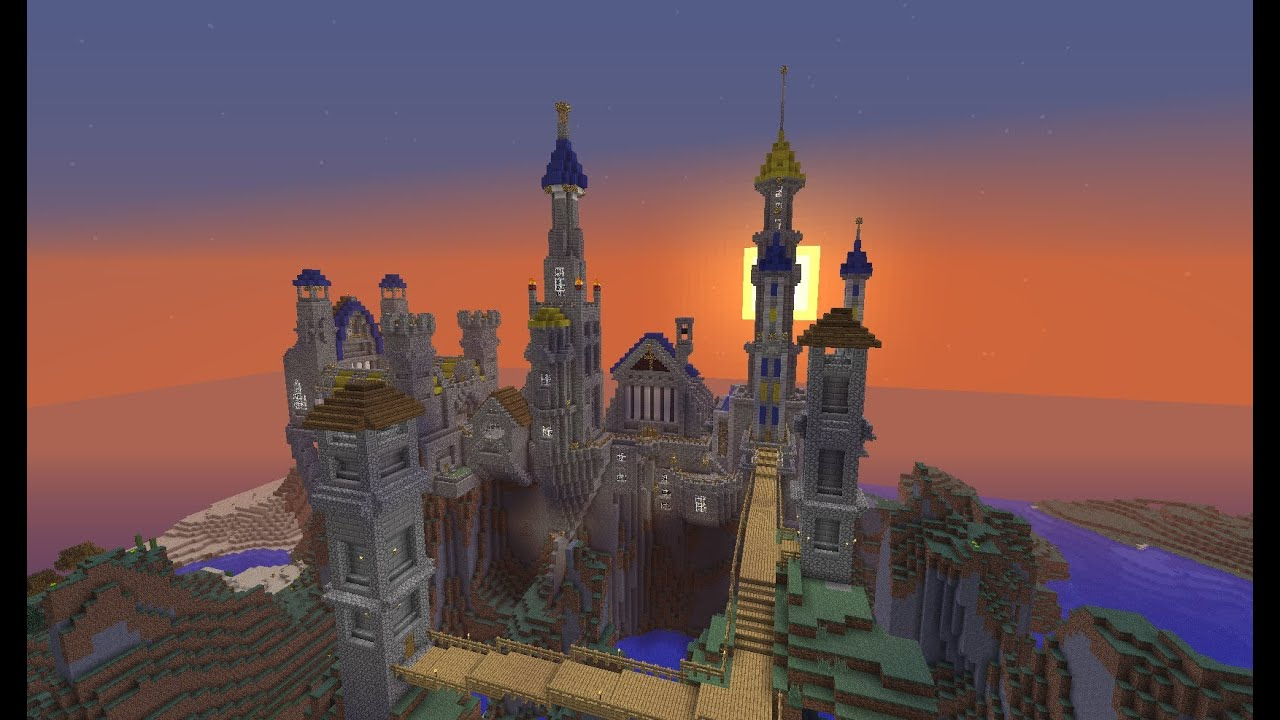 Minecraft Fantasy Castle Build Timelapse  YouTube