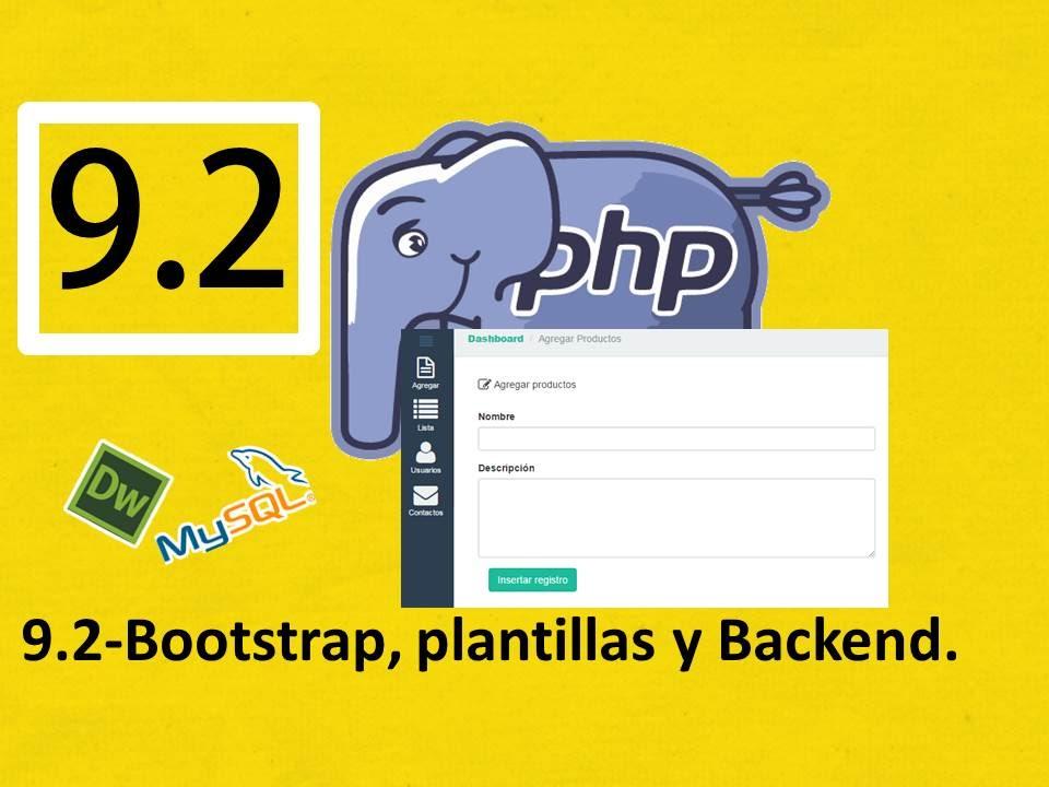 9.2.-Php, Mysql y Dreamweaver (Rápido):Bootstrap y plantillas ...