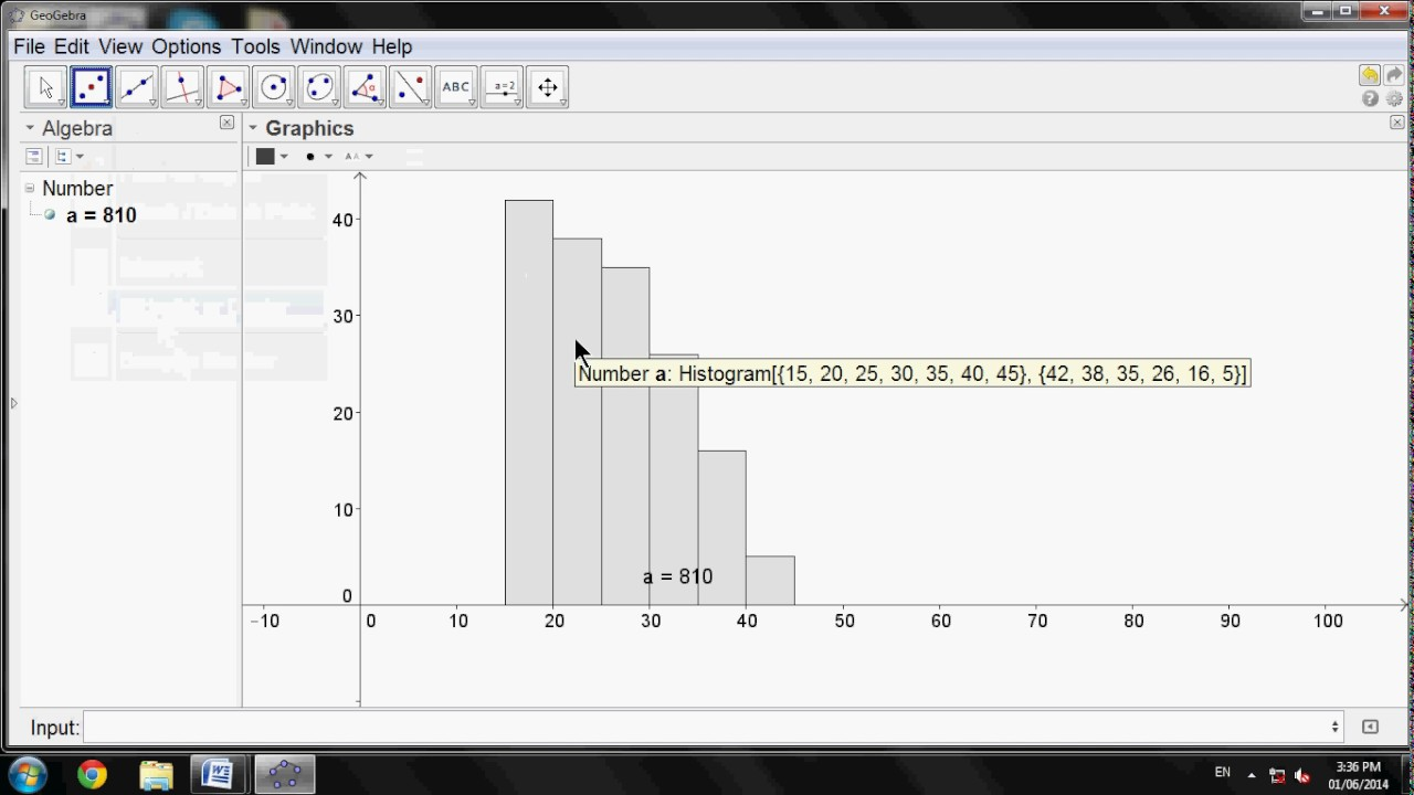 Histogram & frequency polygon in Geogebra (12th Practical in Xth ICT)
