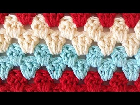 Stitch Repeat Granny Rows Free Crochet Pattern – Left Handed