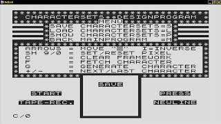 Charactersets Designprogram 19xx  SINCLAIR ZX80 ZX 80 ZX81 ZX 81 Science of Cambridge Ltd