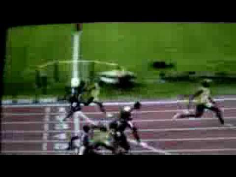 La carrera mas rapida en 100 mts planos