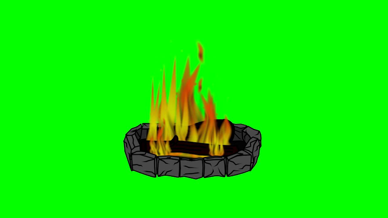 Animated Campfire ~ Green Screen - YouTube