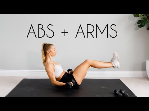 15 min INTENSE Toned Arms + Flat Abs Workout