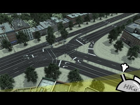 Cities: Skylines - Traffic flow on a 3-Way Intersection (Build incl.)