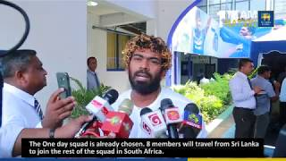 Lasith Malinga share his views on upcoming South Africa ODI series