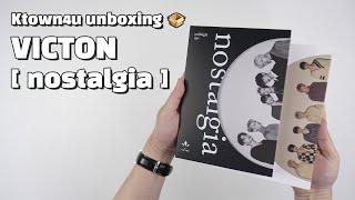 """Unboxing VICTON """"nostalgia"""" 5th mini album, 빅톤 언박싱 Kpop Ktown4u"""