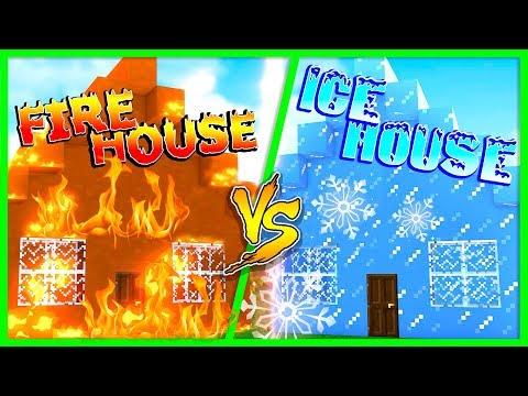 Minecraft FIRE HOUSE VS ICE HOUSE