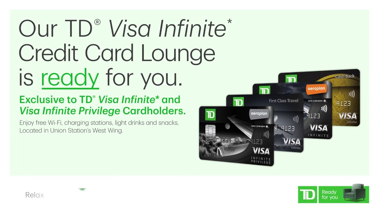 Td Visa Infinite >> This Credit Card Gets You Lounge Access At Union Station Td Visa Infinite