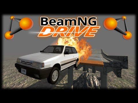 O DESAFIO DAS PONTES COM UM FIAT UNO!! - Jogando BeamNG Drive