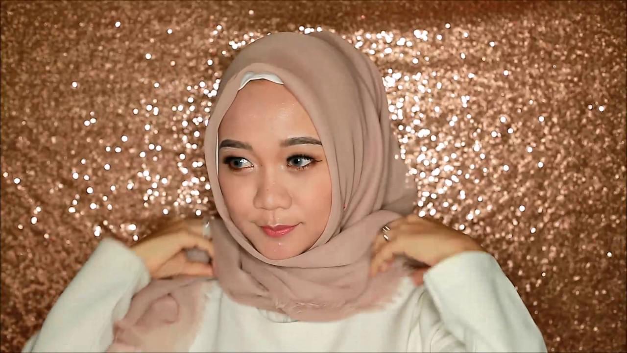 Tutorial Hijab Segi Empat Laudya Chintya Bella