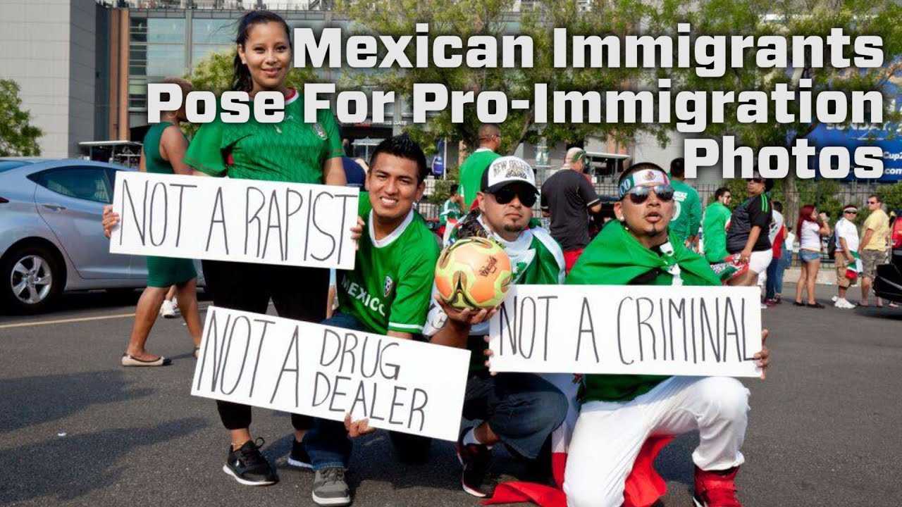 mexican immigrants pose for proimmigration photos youtube