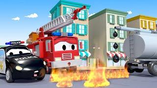 Coche de policía para niños - El Rastro - Auto City ! Dibujos Animados de Camiones