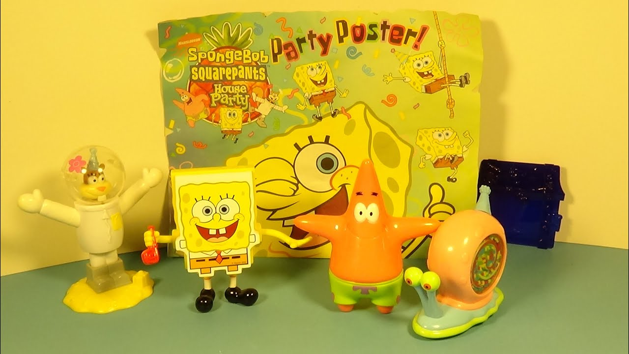 2001 spongebob squarepants house party set of 5 wendy u0027s kid u0027s meal