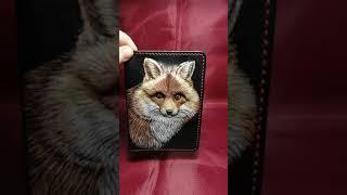 Обложка для авто документов и паспорта. Изделия из кожи. СКСтиль.  Видео обзор: Лис для Машеньки).