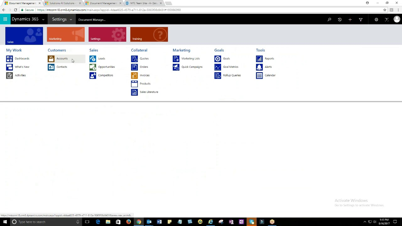 Attachment to SharePoint for Microsoft Dynamics 365/CRM - YouTube