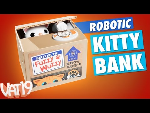 Thumbnail: The Fuzzy Wuzzy Kitty Cat Bank