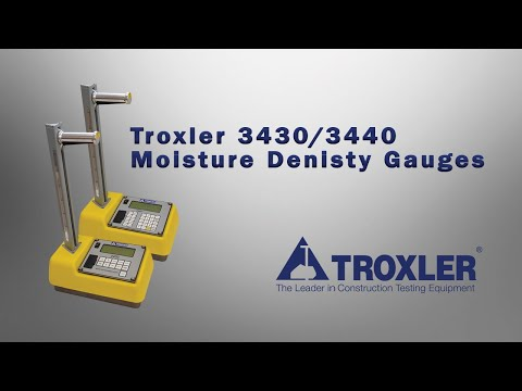 Troxler RoadReader  Model 3430/3440 Moisture Density Gauges