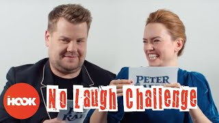DAISY RIDLEY & JAMES CORDEN DO THE NO LAUGH CHALLENGE | The Hook