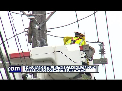 Residents in Plymouth coping without power as DTE works to repair substation