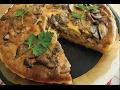 Mushroom and Bacon Quiche【家カフェ】キノコと厚切りベーコンのキッシュ【作り方】