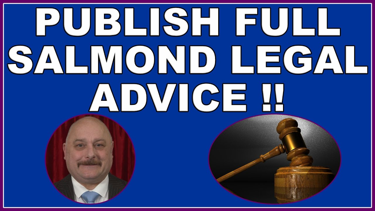 SNP Government must be forced to publish Alex Salmond inquiry legal advice in full! (4k)