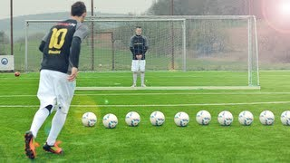 Repeat youtube video Best Free Kicks Montage | Vol.25 | Ronaldo vs. Messi Shots | freekickerz