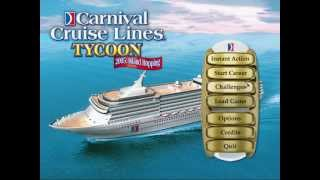 Carnival Cruise Lines Tycoon: 2005 Island Hopping Title Screen