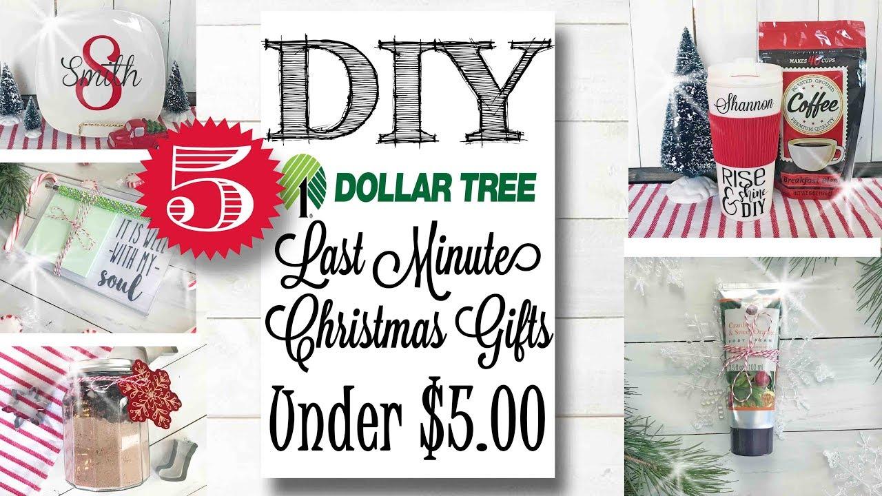 Last Minute Diy Dollar Tree Gift Ideas Under 5 00 Youtube
