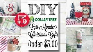 Last Minute DIY Dollar Tree Gift Ideas Under $5 00!