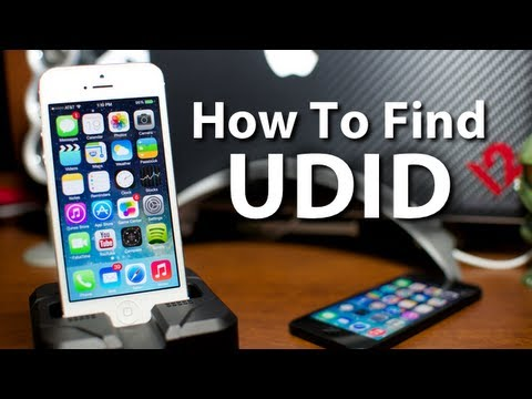 How To Find Your UDID On Your iPhone iPod Touch & iPad