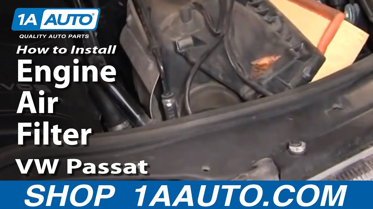 How To Replace Engine Air Filter 98 05 Vw Passat 1 8l 20v Turbo Youtube