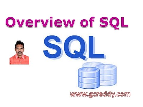 SQL Tutorial 2: Overview of SQL