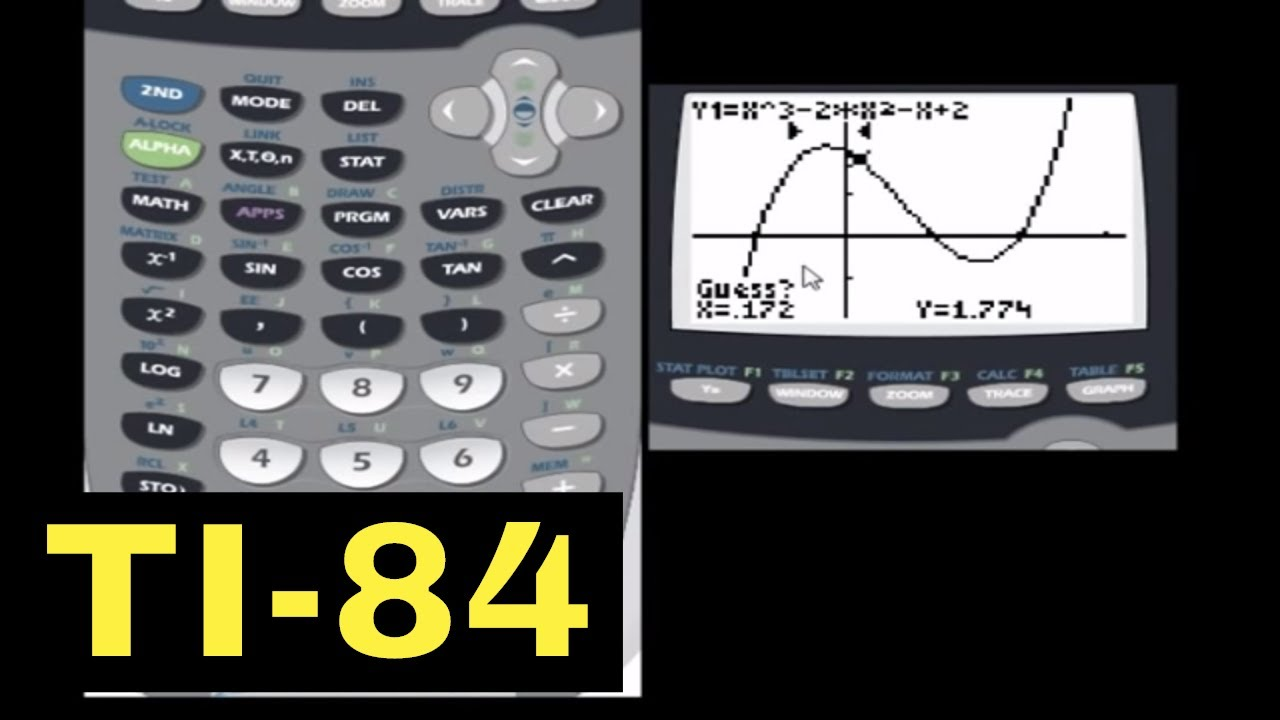 TI-84 Calculator - 19 - Max and Min of a Function with the TI-84 ...