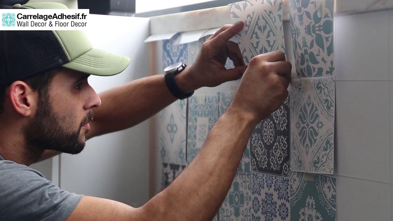 comment appliquer carrelage adhesif mur