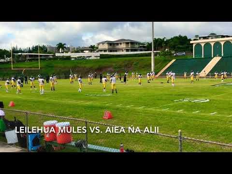 Leilehua Mules Vs. Aiea Nā Ali'i (9/21/18) Jv Football Game
