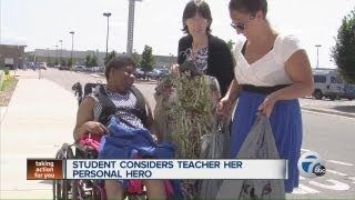 Student considers teacher her personal hero
