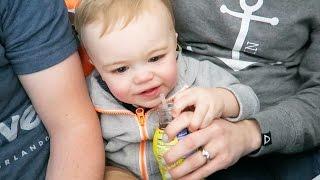 BABY LOVES CHOCOLATE MILK!!