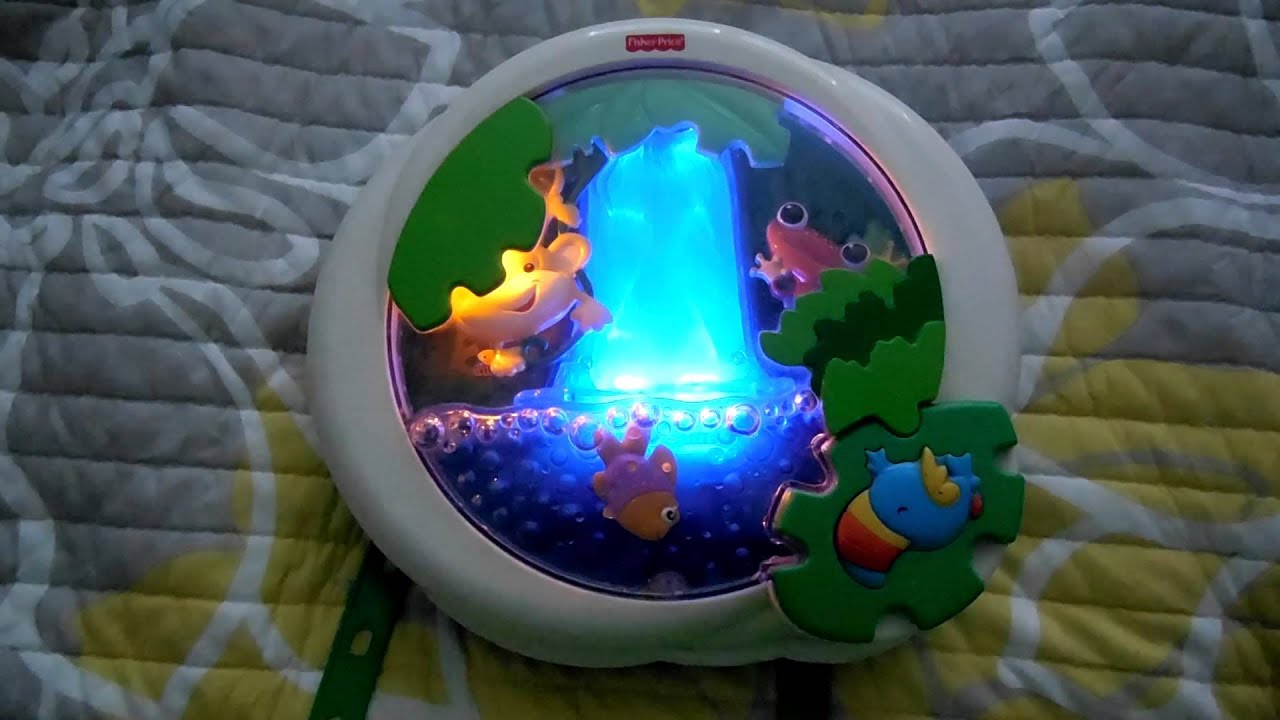 Fisher Price Rain Forest Lights Sounds Baby Crib Sleep Toy Mobile
